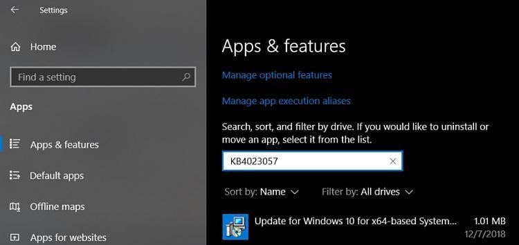 FIX for: KB4023057 Fails - Error 0x80070643 (Windows 10
