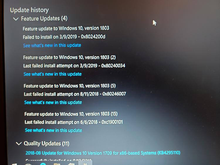 W10 update error on (really) old laptop: SAFE_OS phase