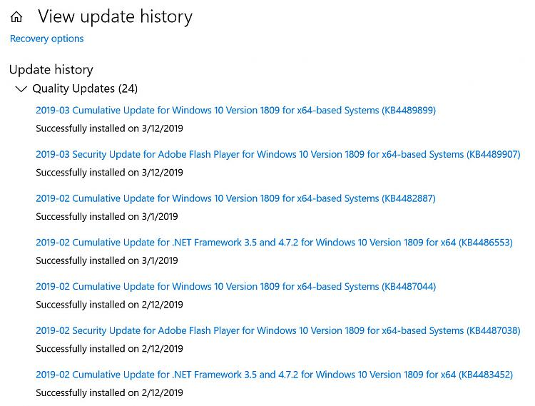 problems with windows 10 update 2019