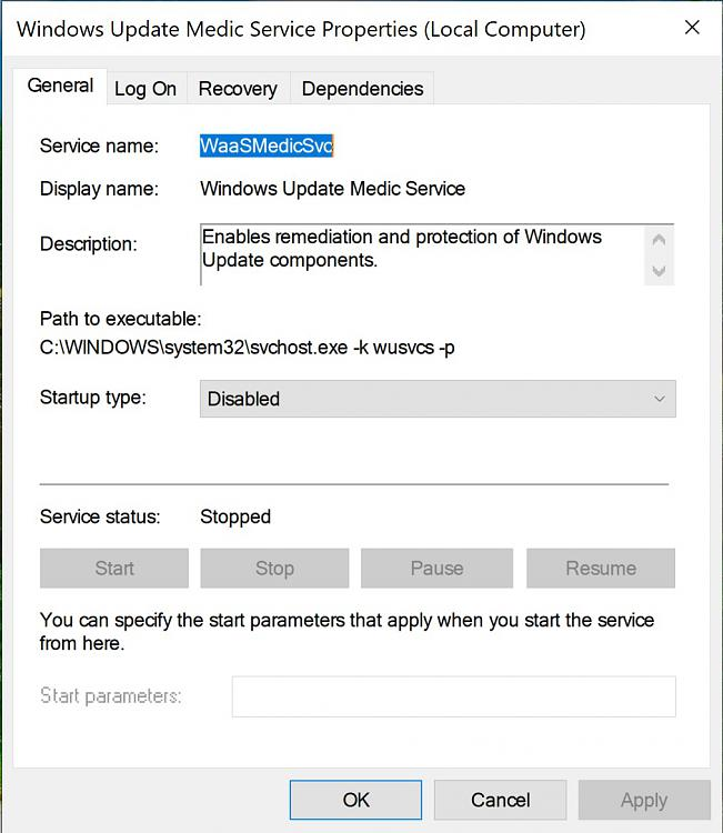 Click image for larger version.  Name:Windows Update Medic Service Disabled!.jpg Views:2 Size:185.3 KB ID:230670