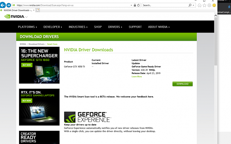 Botched updates of windows update in the list-nvidia-zero-drivers.png