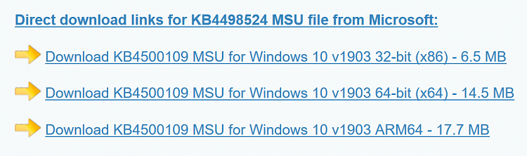 Can't install KB4500109 (Servicing stack update for Windows 10