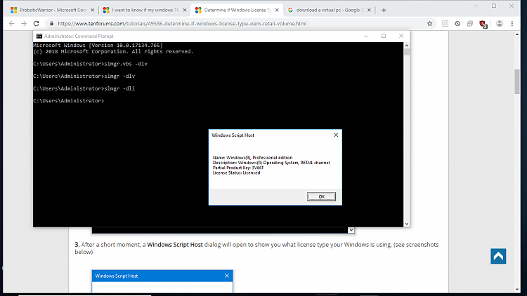 I want to know if my windows 10 digital license is ...