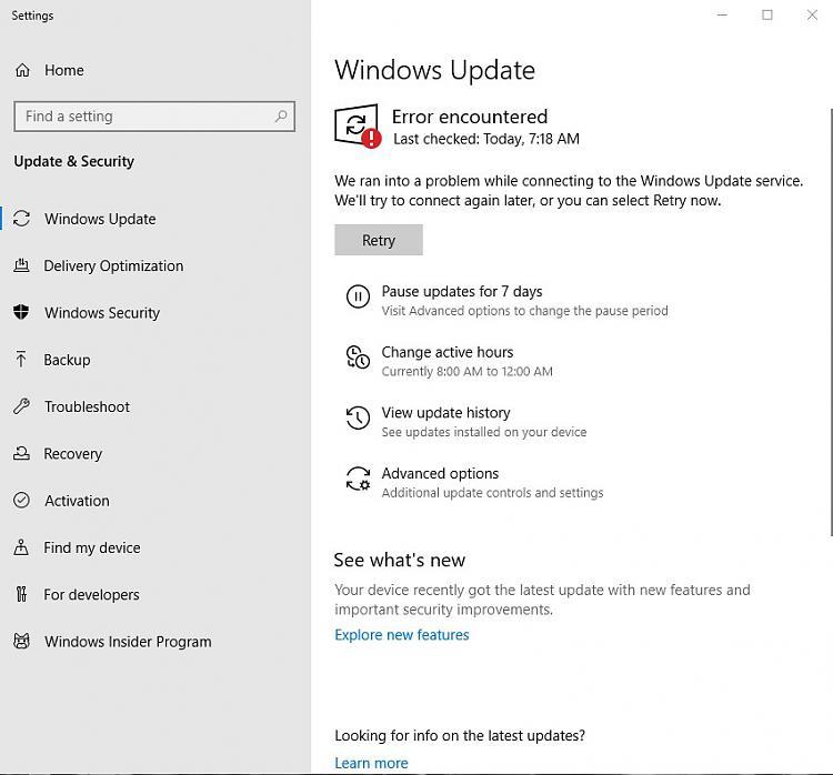 Windows update service problem  Solved - Windows 10 Forums