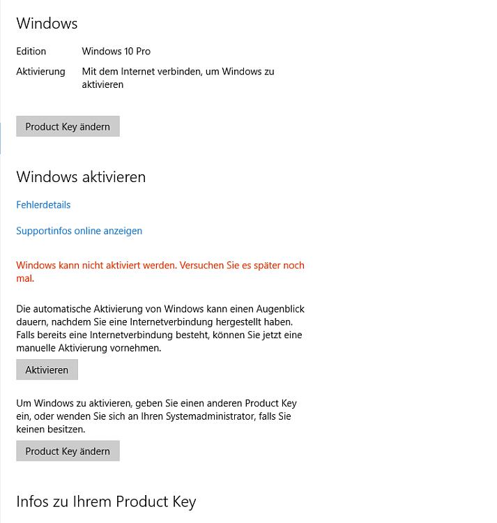 error activating windows 10 0xc004f034