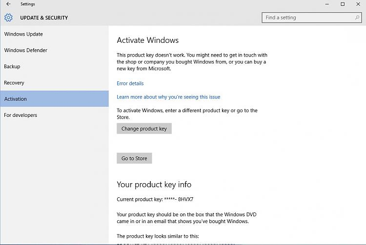Не могу активировать windows 8 выдает ошибку