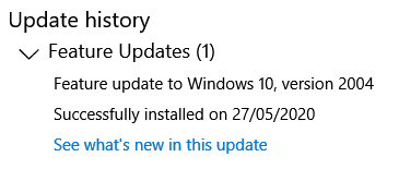 How long does the 2004 upgrade take using Windows Update?-2004-update-history.png