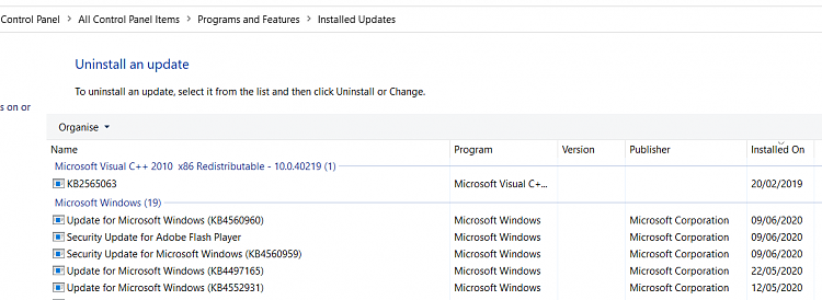 W10 update killed my Brother printer-installed-updates.png
