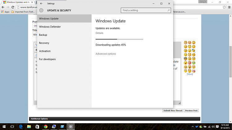 Windows update stuck at 45% Solved - Windows 10 Forums