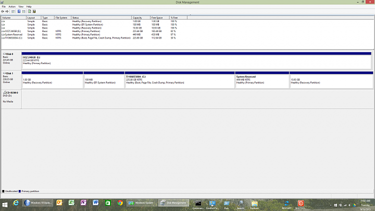 cannot update the system reserved partition