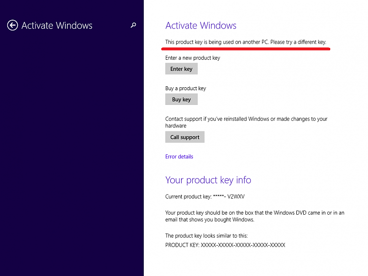 Click image for larger version.  Name:This product key is being used on another PC.png Views:0 Size:37.1 KB ID:41930