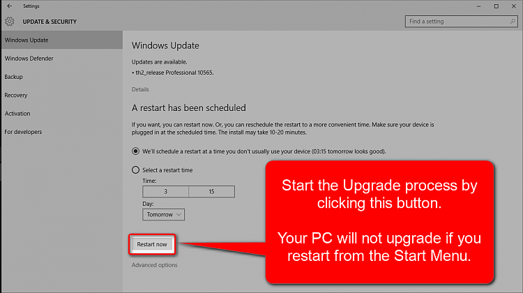 Got the 10565 Update but upon restart it does not update ?-2015_10_15_09_26_441.png