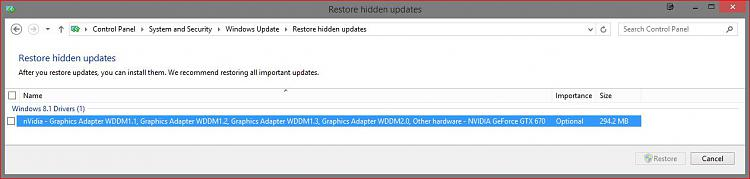 Click image for larger version.  Name:Hide MicroSoft NVIDIA WDDM updates.JPG Views:16 Size:60.1 KB ID:49928