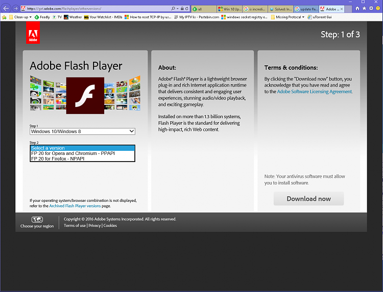 download adobe flash player for windows 10