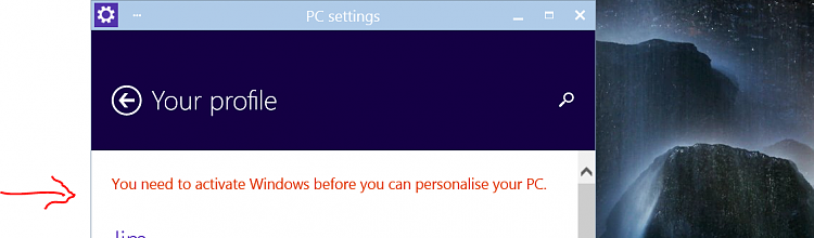 Activation woes - Windows needs activation to personalize-active.png