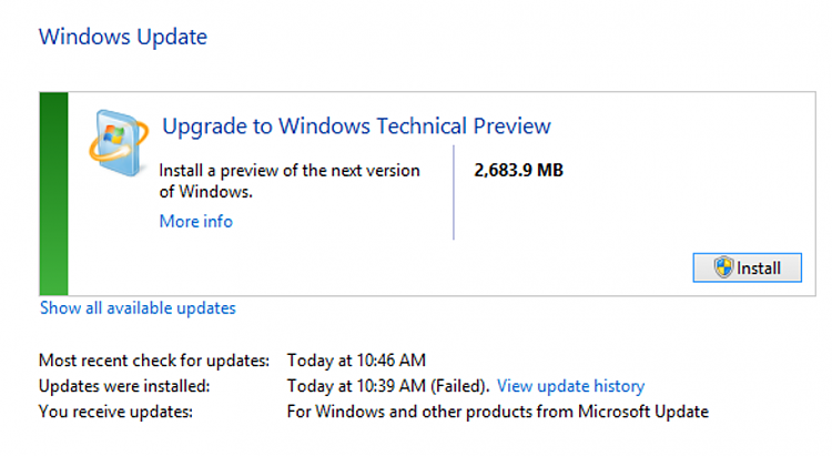 Windows Update Prompting an Upgrade to Tech Preview-tp1.png