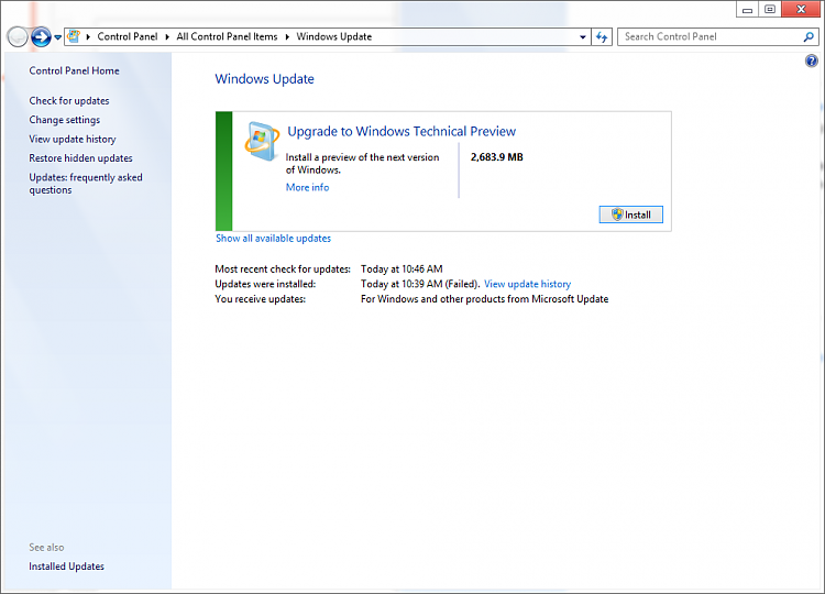 Windows Update Prompting an Upgrade to Tech Preview-tp2.png