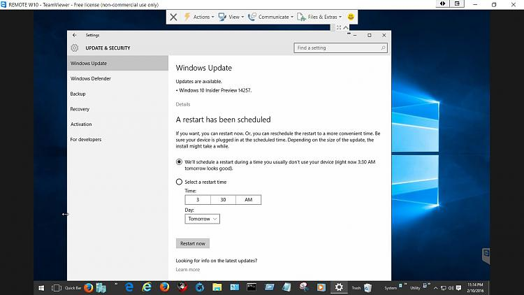 Click image for larger version.  Name:W10 Insider Preview 14257 Restart.jpg Views:2 Size:118.6 KB ID:63581