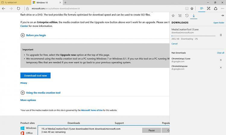 Windows 10 Updates stuck at 99% and SkypeSetup exe fails to