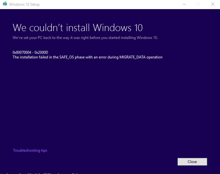Click image for larger version.  Name:Windows10-Cant-Install.jpg Views:5 Size:53.1 KB ID:74734