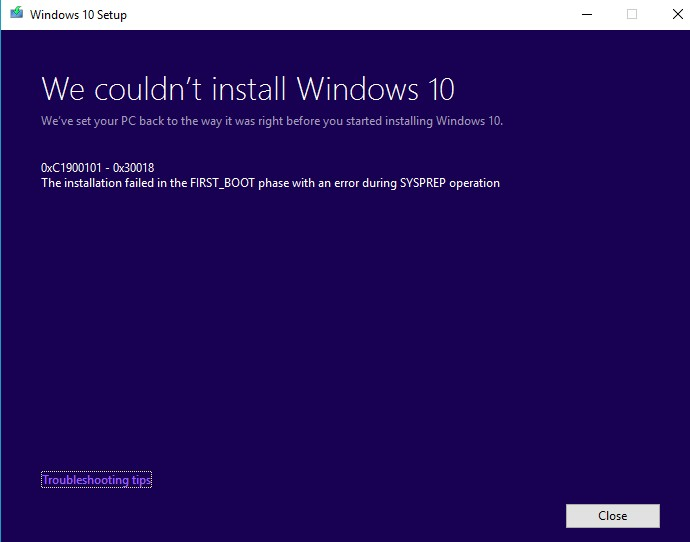 Can't update Windows - Page 5 - Windows 10 Forums