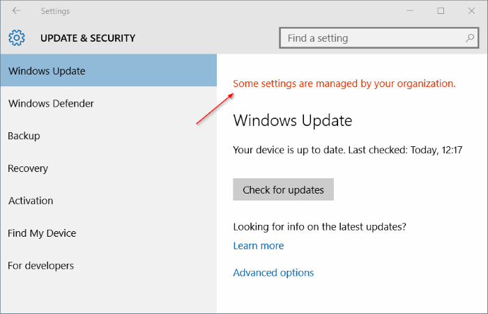 Win 10 Anniversary, automatic updates & Group Policy Settings-some-settings-managed-your-organization-windows-10-pic1.png