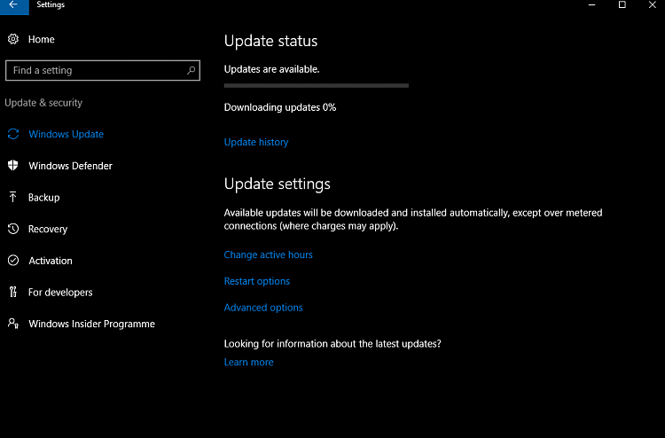 how to tell if windows 10 is downloading an update