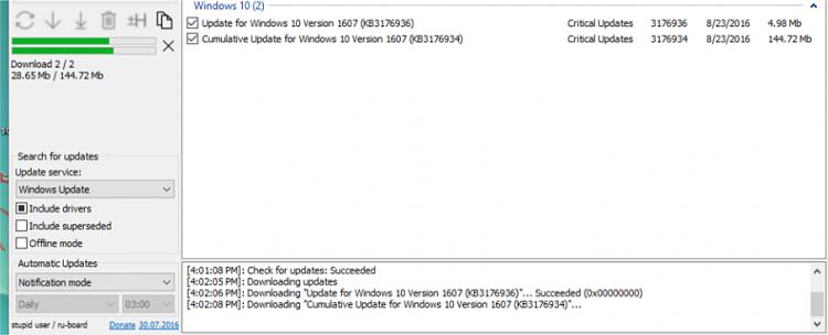 downloading updates stuck at 98 windows 10