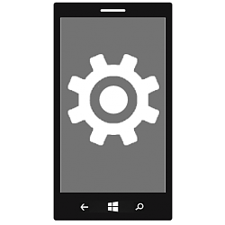 Open Settings on Windows 10 Mobile Phone