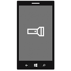 Flashlight - Turn On or Off in Windows 10 Mobile Phone
