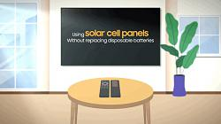 Samsung developed solar cell powered remote control for TVs